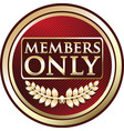 members only gold label vector image