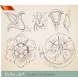 sketch flowers resize vector image