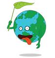 Tired earth cartoon vector image