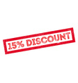 15 percent discount rubber stamp vector image