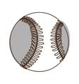 baseball ball icon image vector image