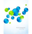 Abstract background with colorful spheres vector image