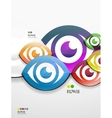 Colorful abstract 3d paper background vector image