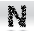 Letter N formed by inkblots vector image vector image