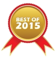 Best of 2015 icon vector image