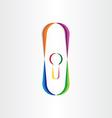 door lock colorful icon vector image
