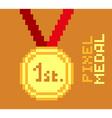 Pixel Medal vector image