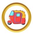 Auto rickshaw icon vector image