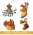 Christmas icons colored set vector image