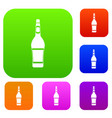 design bottle set color collection vector image