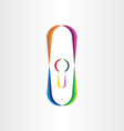 door lock colorful icon vector image