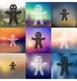 gingerbread man icon on blurred background vector image