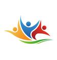 Happy Team Swoosh Logo vector image