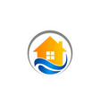 house water protection logo vector image