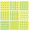 patchwork patterns vector image