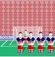 USA Soccer Club Penalty on a Stadium vector image