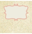 Vintage dot Invitation Template vector image
