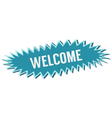 blue banner welcome vector image