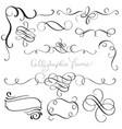 set of vintage flourish decorative art calligraphy vector image vector image