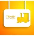 Train applique background vector image
