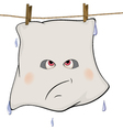 Ghost drying on a rope cartoon vector image