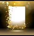 banner with golden butterflies vector image