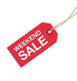 weekend sale sign vector image vector image