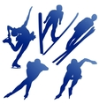 silhouettes of athletes vector image