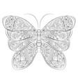 doodle zentangle butterfly banner wish vector image