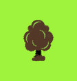 flat icon design collection tree silhouette vector image