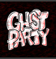 handwritten poster for halloween party lettering vector image