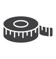 measure tape glyph icon centimeter and size vector image