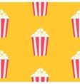Seamless Pattern Popcorn Cinema icon Yellow vector image