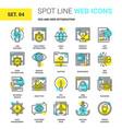 seo and web optimization vector image