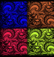 set of 4 seamless boho patterns vector image