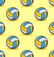 Volleyball seamless pattern Sports accessory vector image