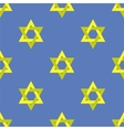 Yellow Star of David Seamless Pattern vector image