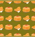 traditional russian pancake cuisine seamless vector image