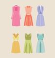 Beautiful woman dresses eps 10 vector image