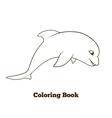 Coloring book dolphin cartoon educational vector image