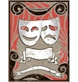 vintage theater masks vector image