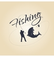 logo fishing and design elements vector image