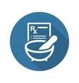 Pharmacy Medicine Icon Flat Design vector image