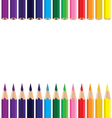 Colorful pencil background Color pencil on a white vector image