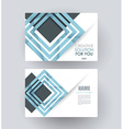 business card template design vector image