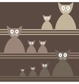 Cats Abstract seamless background Template for vector image