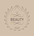 Floral logo template for Beauty salon Spa center vector image