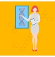 Future professions Futuristic occupation genetic vector image