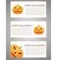 Halloween background with pumpkin Banner set vector image