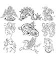 heraldic monsters vector image